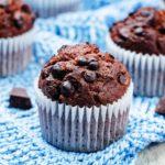 muffins med chokoladestykker