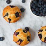 blåbærmuffins fyldt med blåbær