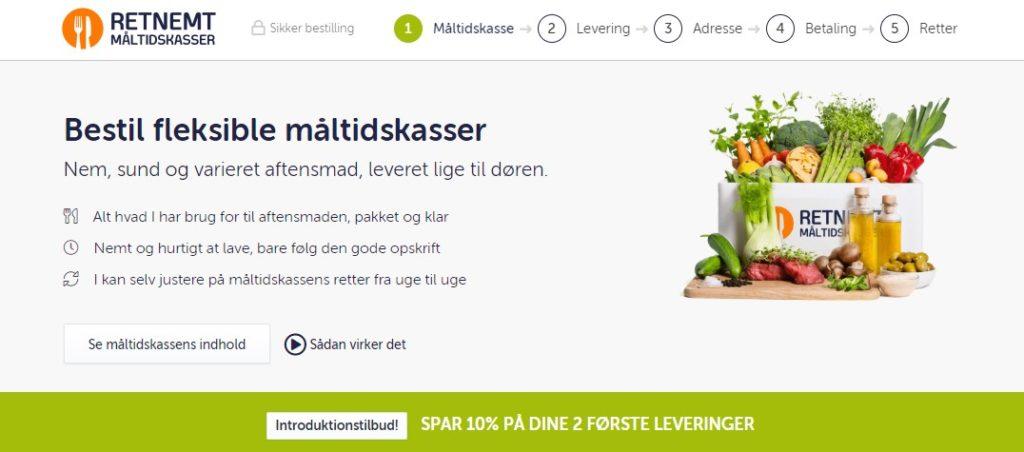 online måltidskasser retnemt
