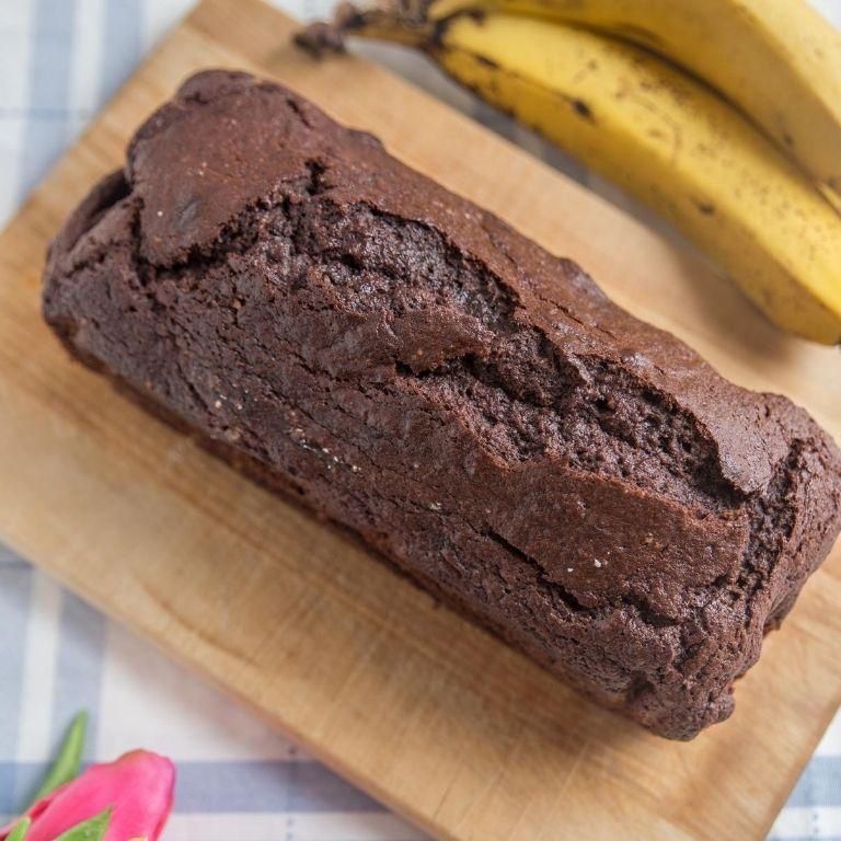 chokoladekage med banan
